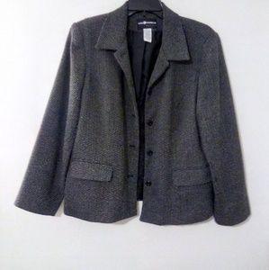 Sag Harbor Lined Button Up Jacket/Blazer 14p